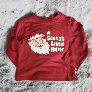 Children's Place Red Cotton Long Sleeve Tshirt 6-9